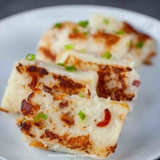 pan fried lo bak go turnip cake white carrot cake