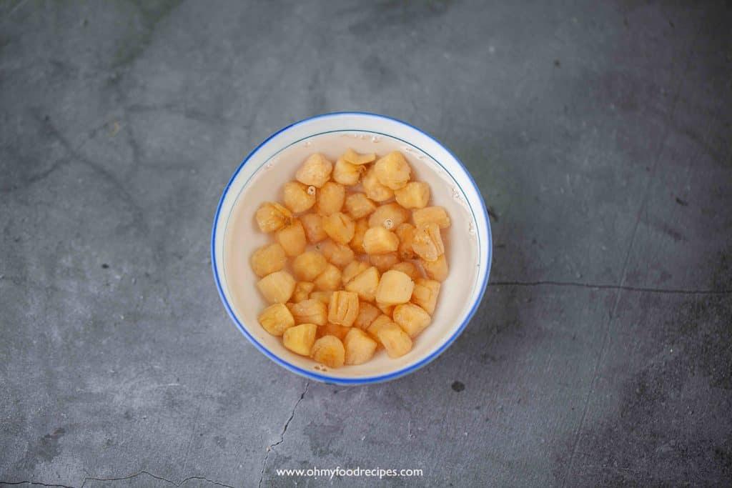 soak dry scallops