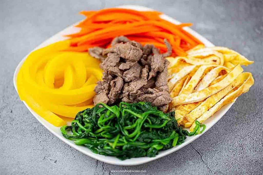 gimbap or kimbap filling ingredients