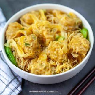 wonton noodle soup recipe 雲吞麵