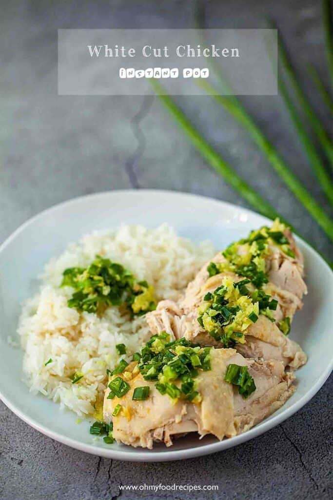 white cut chicken or poached chicken with rice
