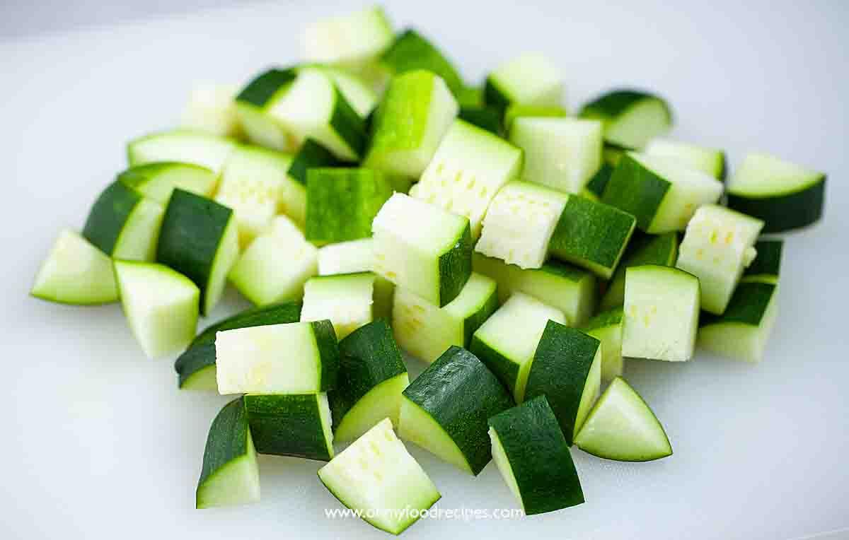 zucchini cut into cubes