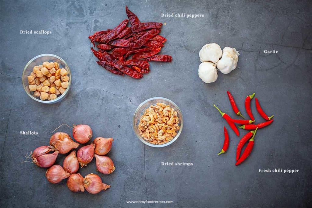 display XO sauce ingredients