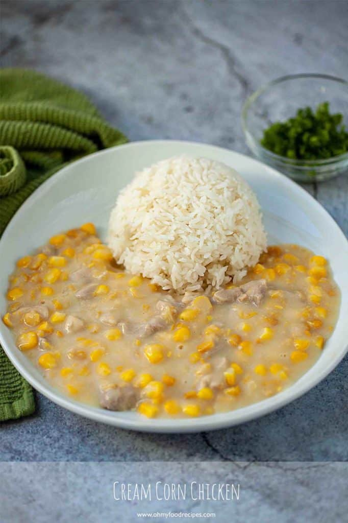 cream corn chicken with rice