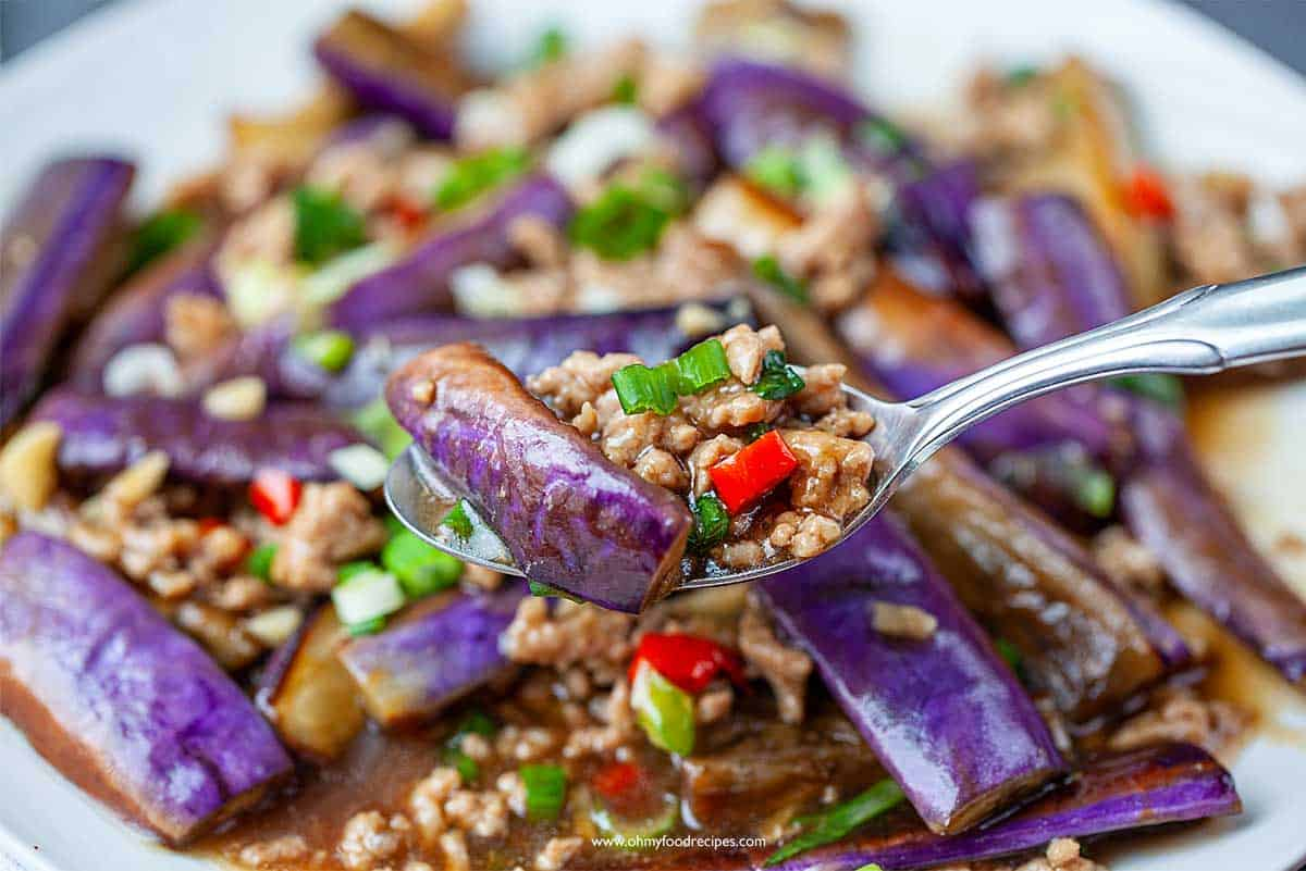 Chinese Eggplant And Pork 魚香茄子 Oh My Food Recipes