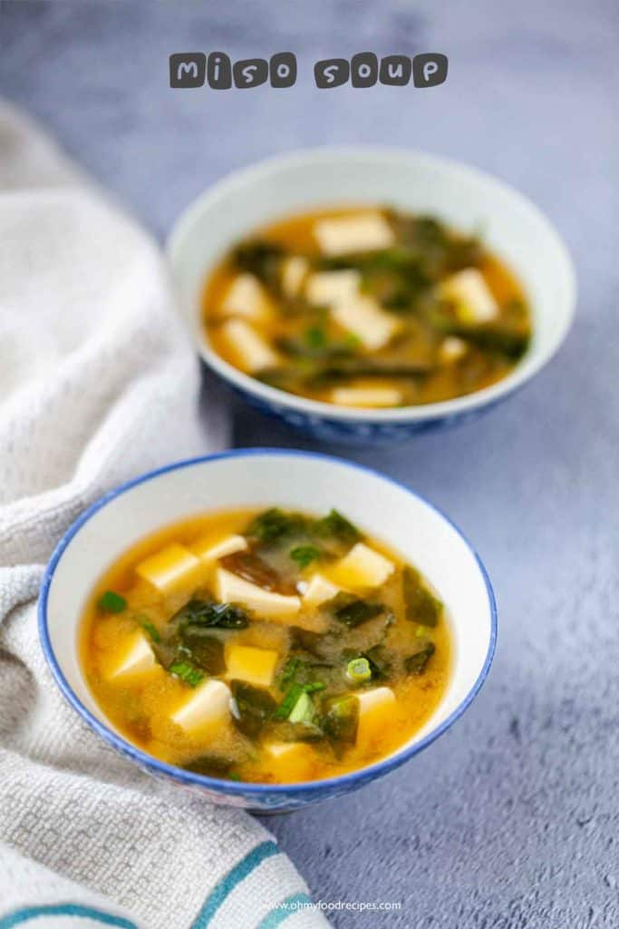 two bowl of miso soup