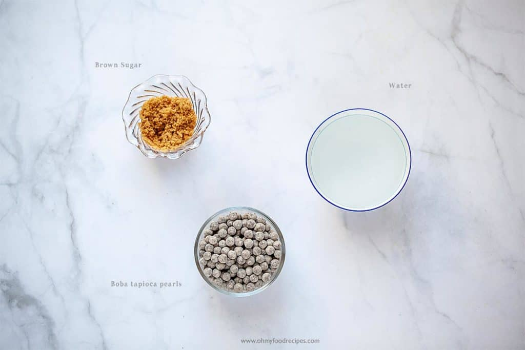 instant pot boba pearls ingredients display
