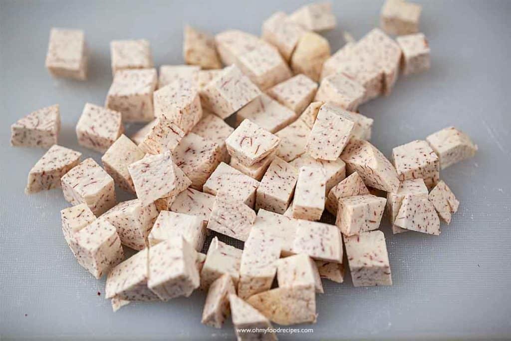 taro cut into cubes