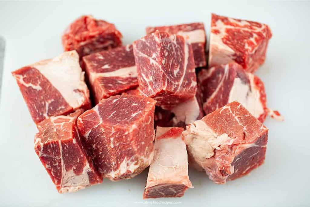 beef roast cut into chunks