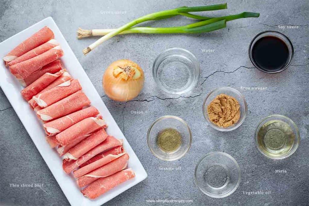 gyudon yoshinoya beef bowl ingredients