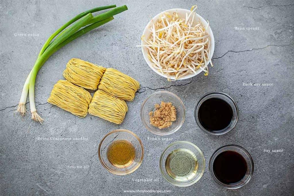 soy sauce noodles stir fry ingredients