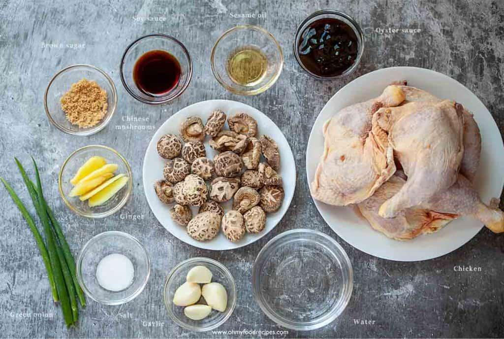 mushroom chicken ingredients