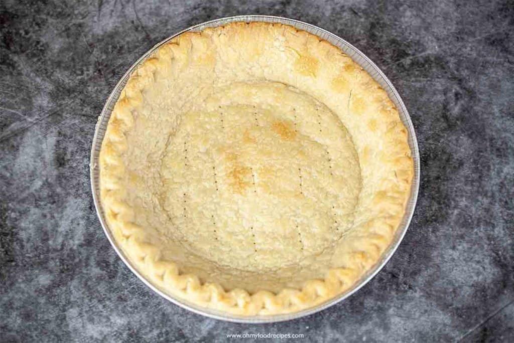 baked golden brown pie crust