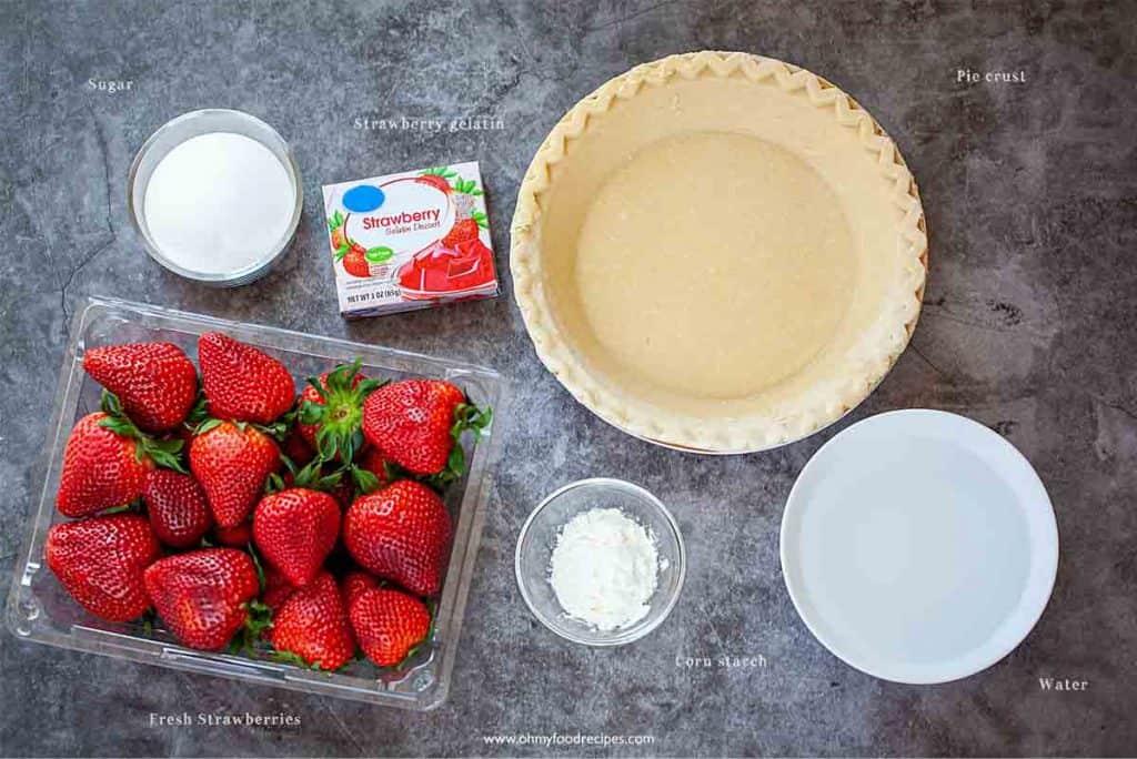 easy fresh strawberry pie ingredients