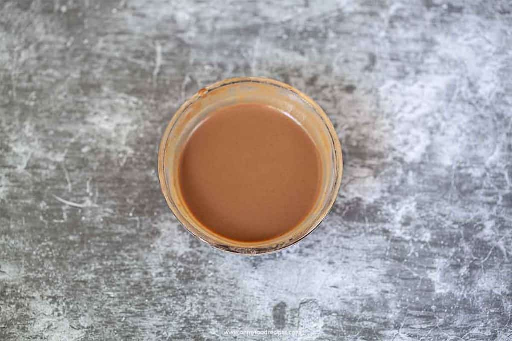 mixture of shrimp paste in a container