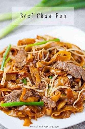 beef chow fun or gon chow ngau ho
