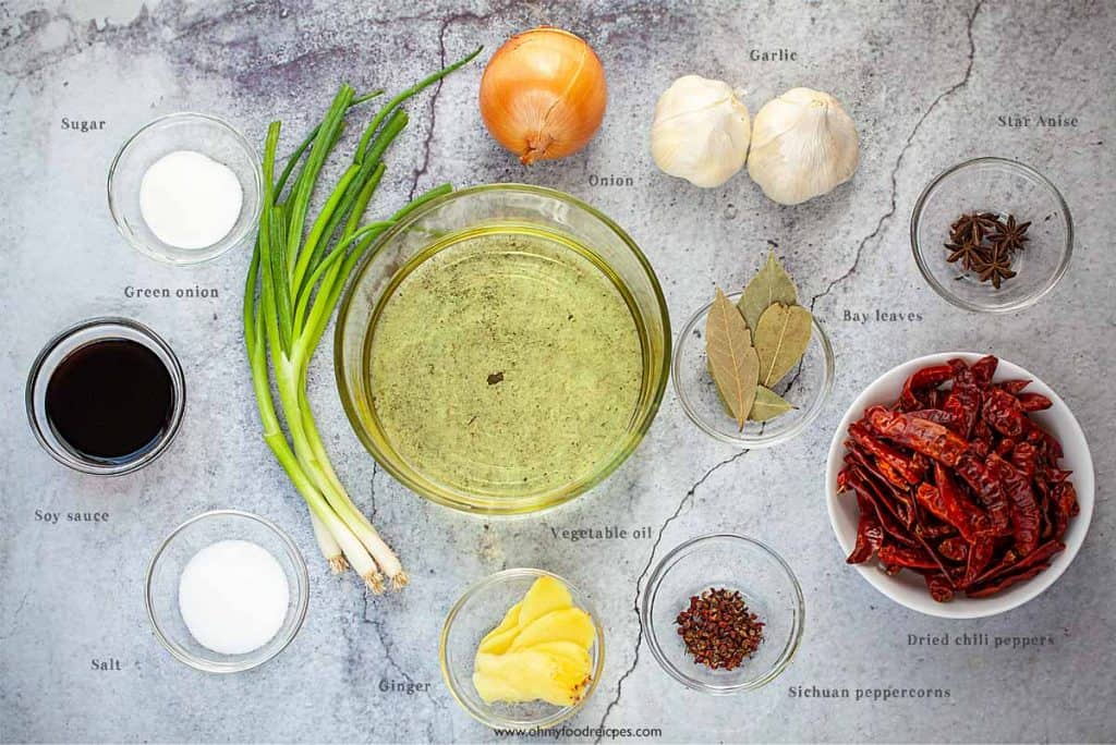 Sichuan chili oil ingredients