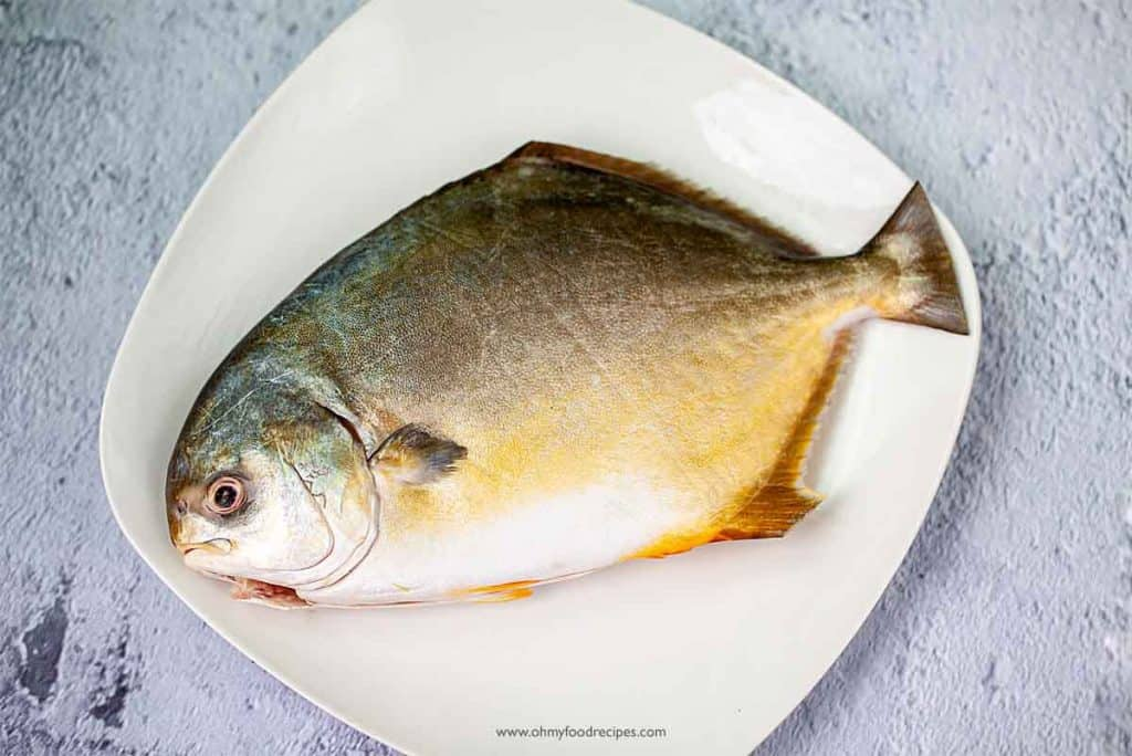 cleaned fish on a plate