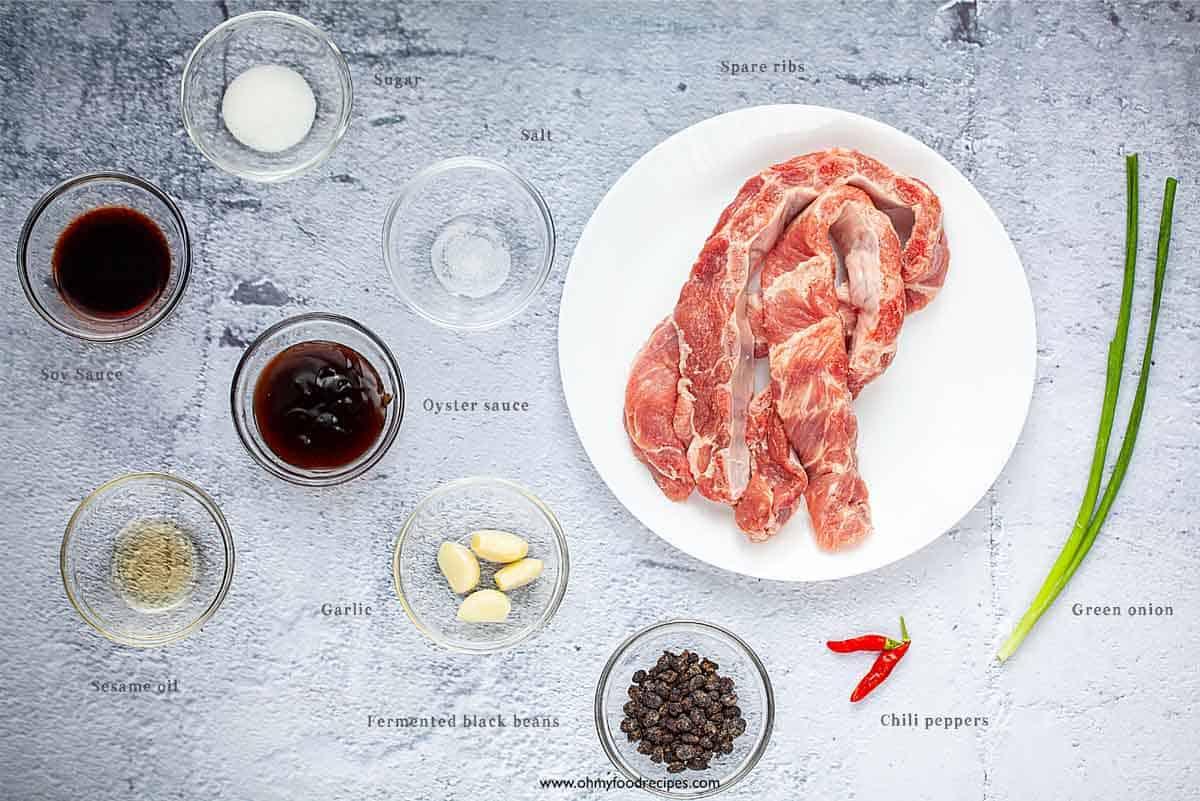 steam pork ribs ingredients