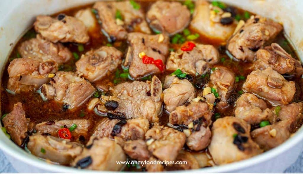steamed Chinese spareribs with black bean sauce