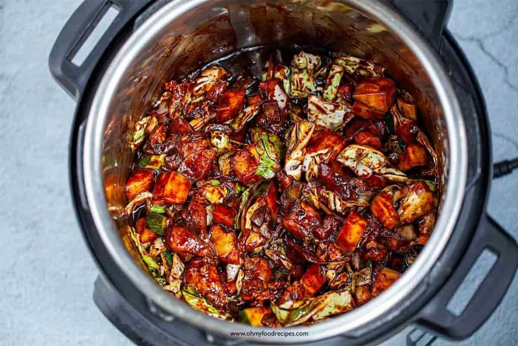 jajangmyeon sauce ingredients mix in instant pot