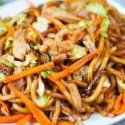 sitr fry chicken udon noodles