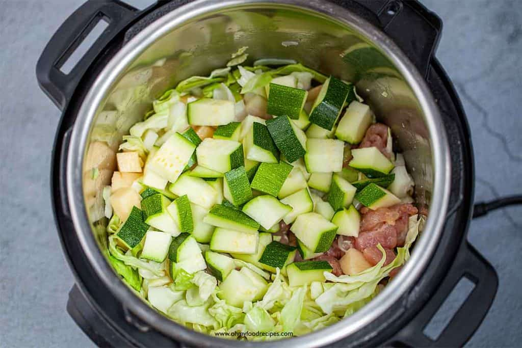 stir fry vegetable and meat in instant pot