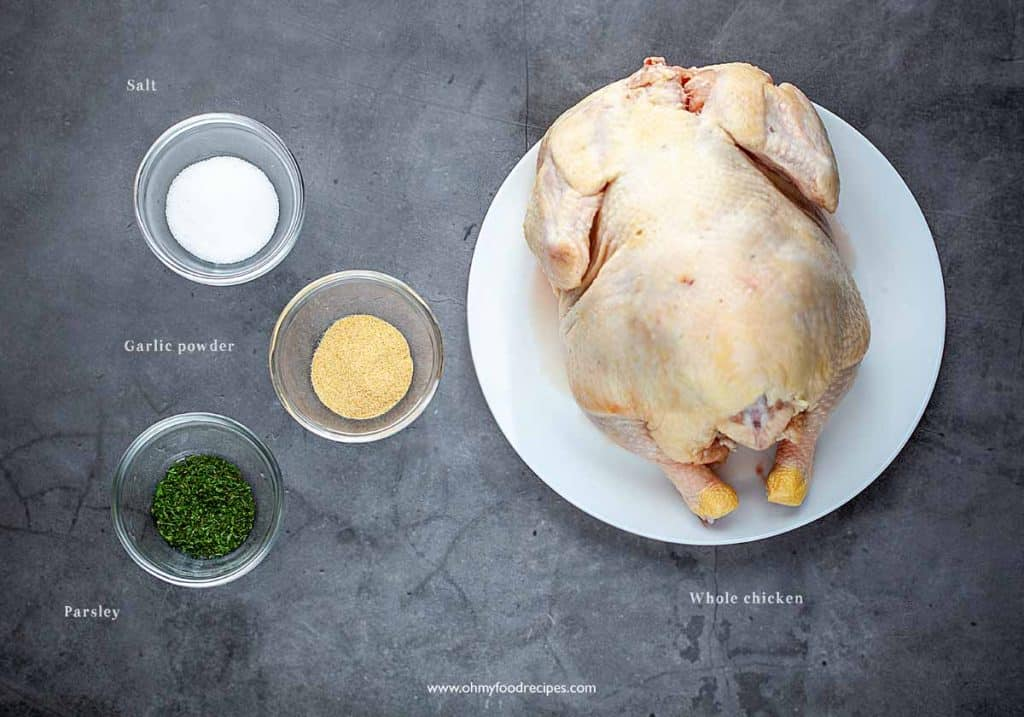 baked whole chicken in oven ingredients