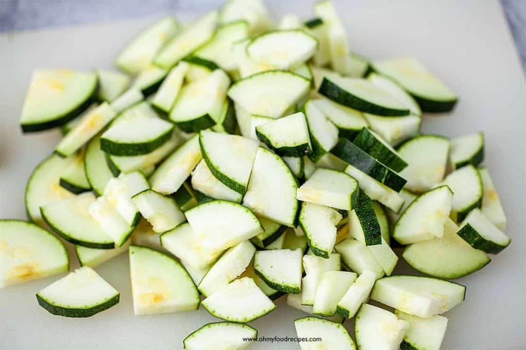 cut zucchini squash
