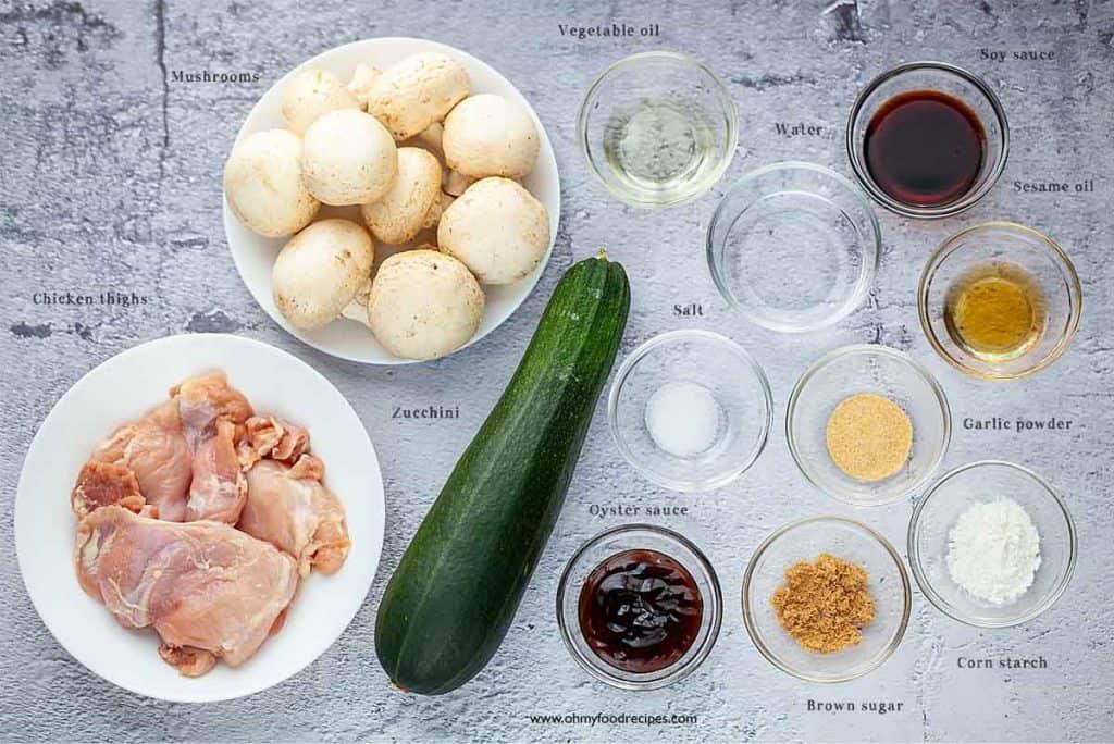 zucchini mushroom chicken ingredients