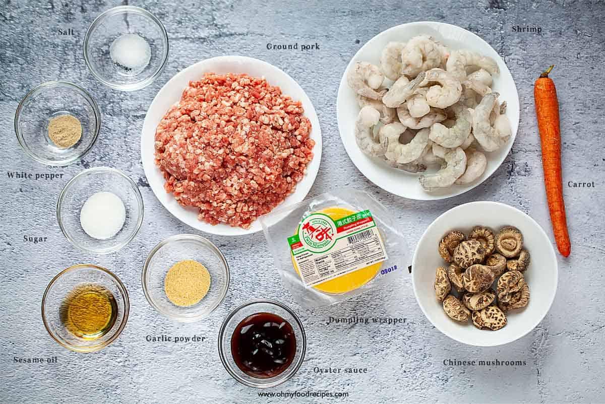 shumai 燒賣 ingredients