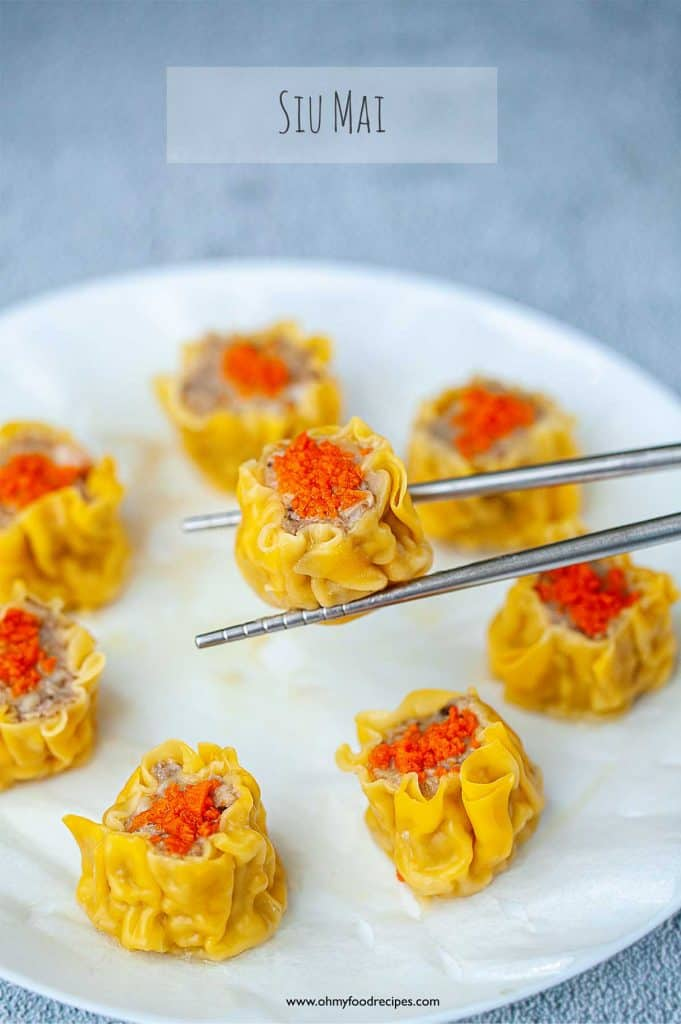 siu mai on sliver chopstick vertical