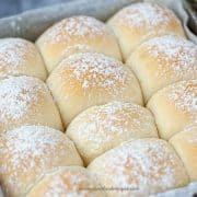 baked Japanese milk bread rolls
