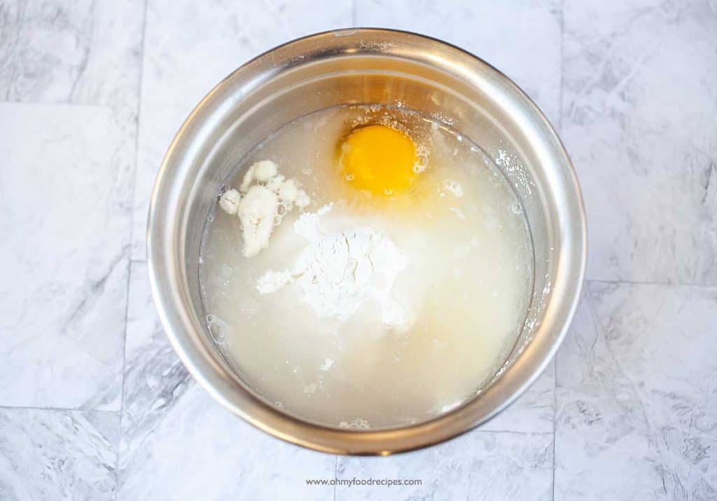 batter ingredients in the bowl