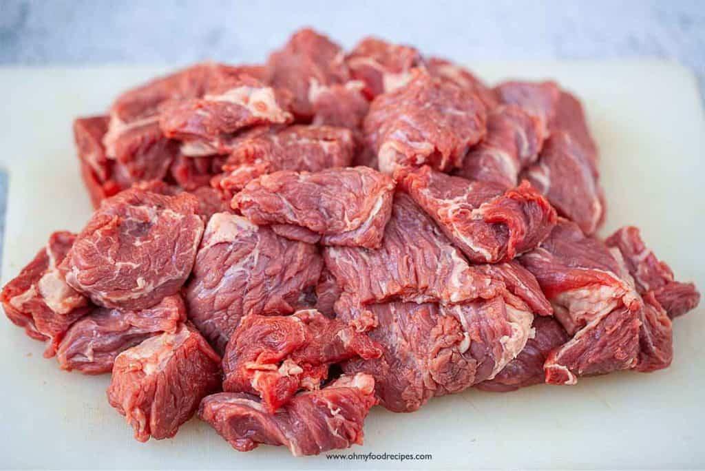 beef roast chuck cut into chunks