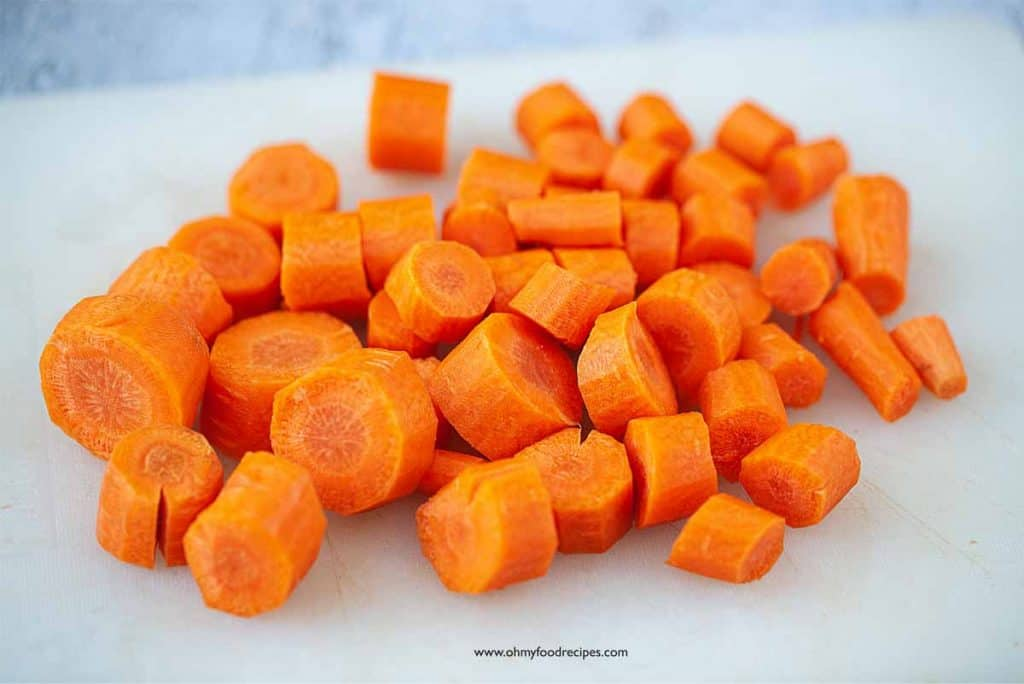carrots cut into chunks