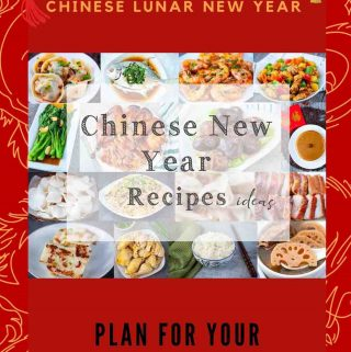 red background Chinese new year recipes ideas