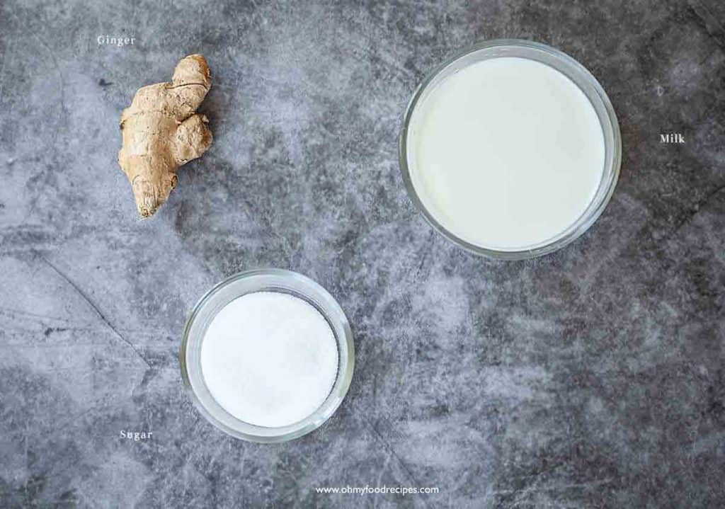 ginger milk curd ingredients