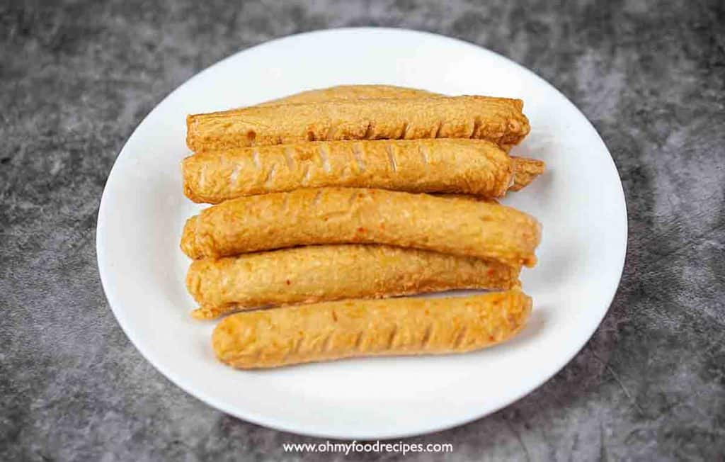 Korean deep fried fish cake sticks