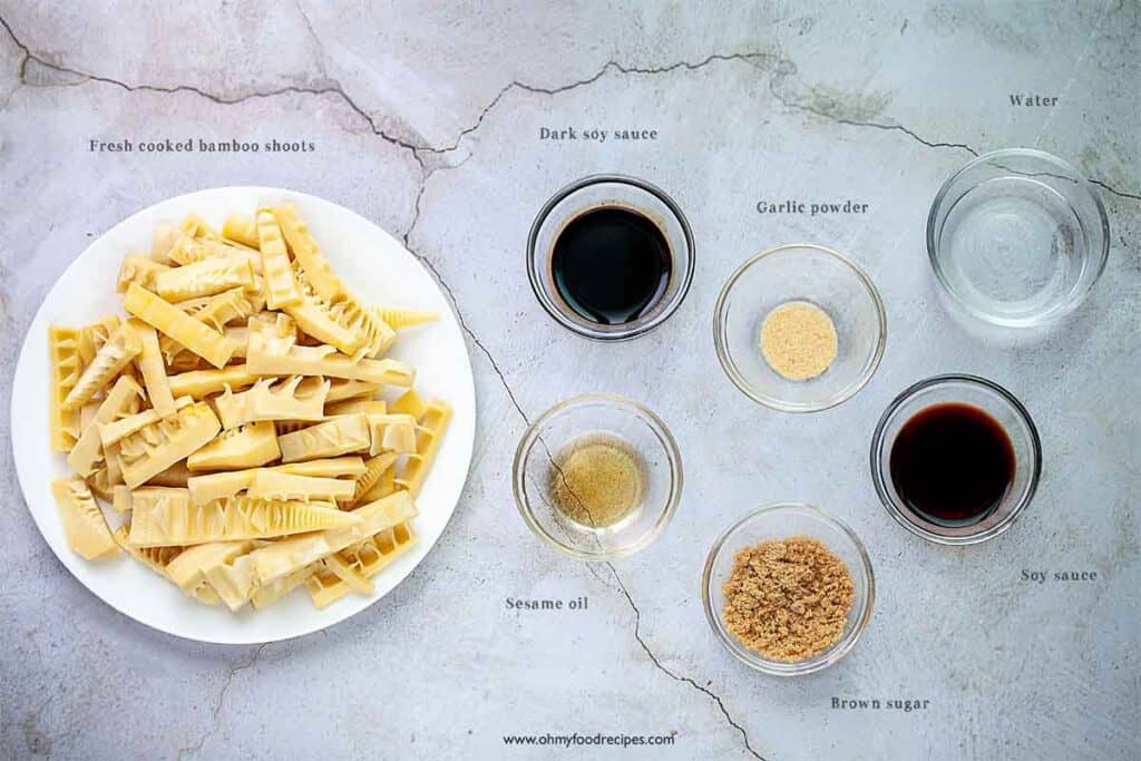 braised bamboo shoots ingredients