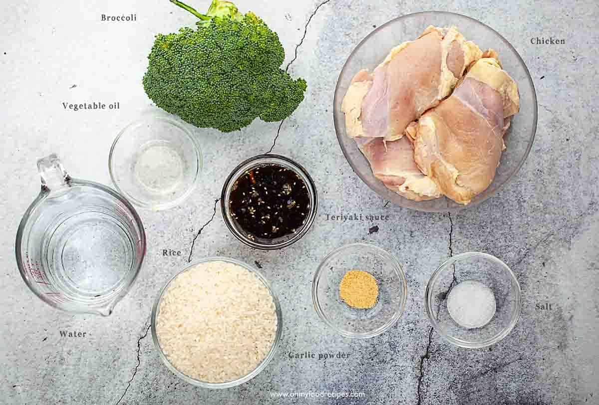 teriyaki chicken rice bowl ingredients