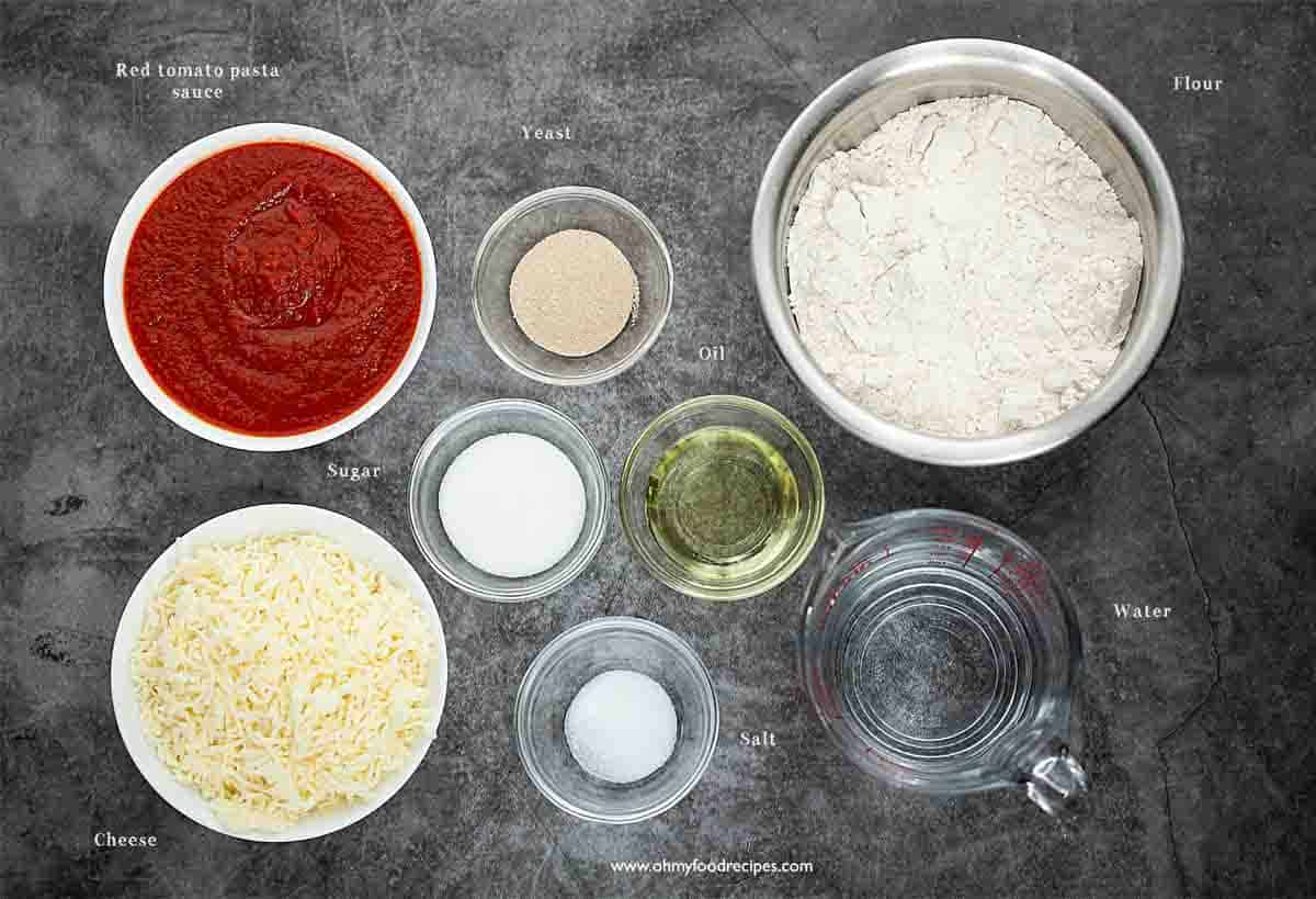 homemade cheese pizza ingredients