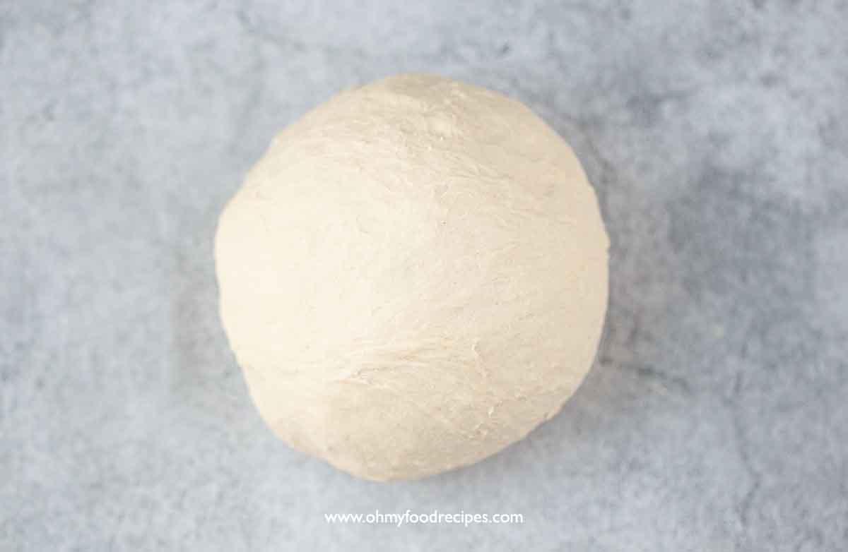 dough shaped into a ball