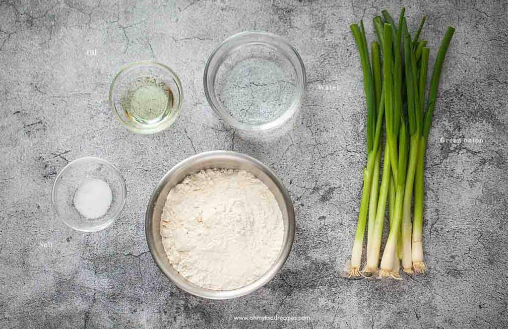 cong you bing Chinese green onion pancake ingredients