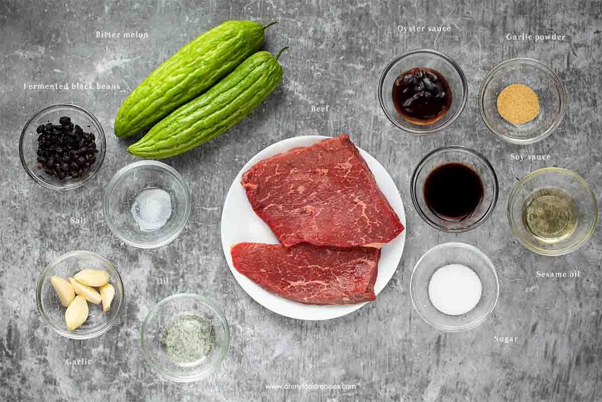 beef bitter melon stir fry ingredients