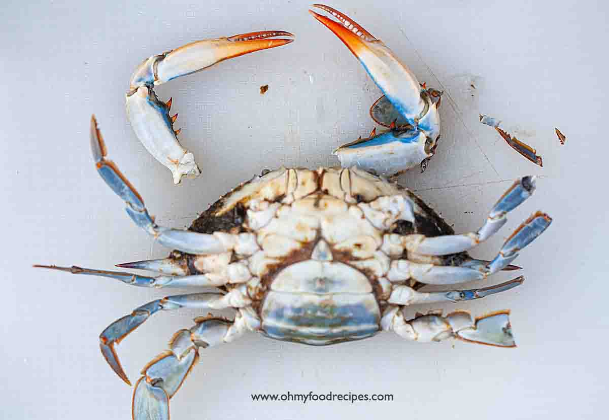 remove crab claws and pointy legs