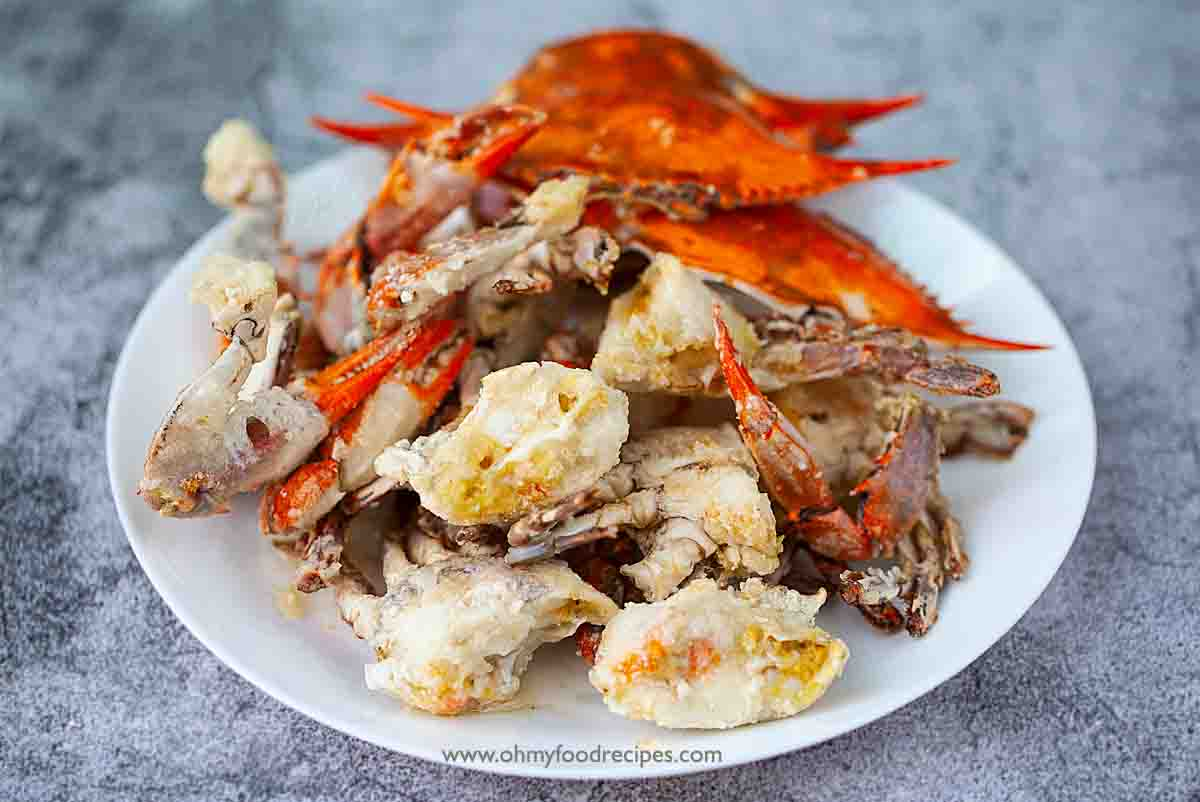 deep fried crab parts on the plate