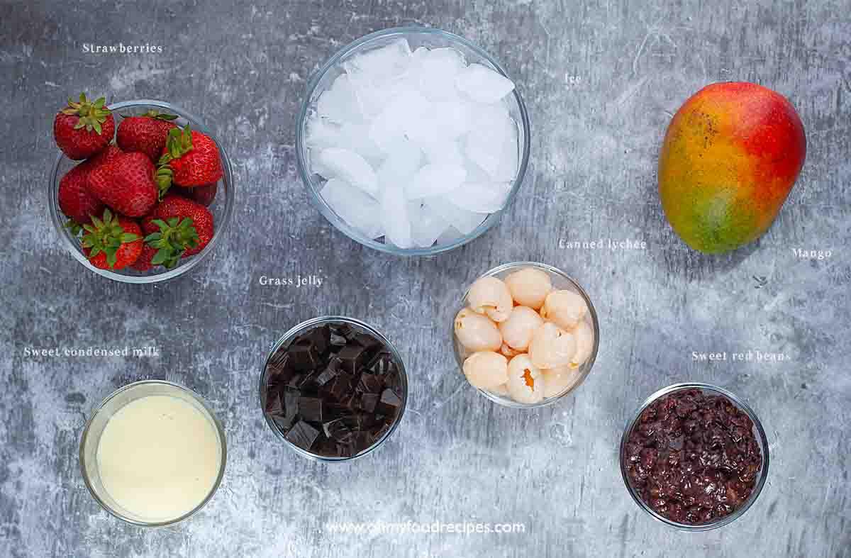 Chinese baobing ingredients