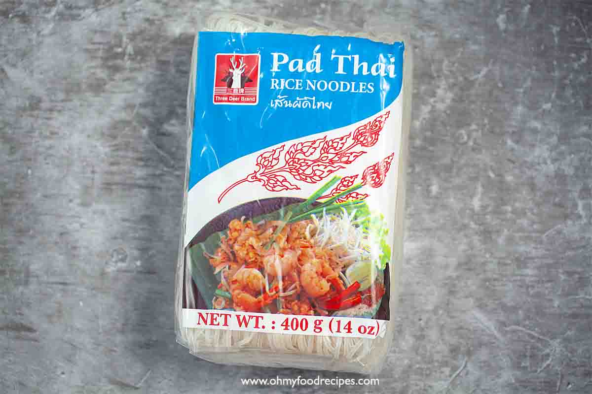 rice noodles in a package